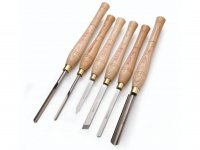 Robert Sorby 6 Piece Woodturning Tool Set - Handled