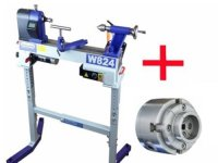 Charnwood W824 Midi Lathe, Chuck & Stand (Package Deal)